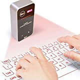 ZLMI Laser Projection Keyboard Bluetooth Mini Wireless Virtual Keyboard Mouse for Mobile Phone/Computer All Models Neutral Kb560s,Black