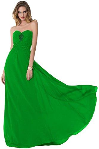 sunvary Sexy parte trasera abierta de raso vestidos de novia dama de honor Empire de la cintura verde manzana