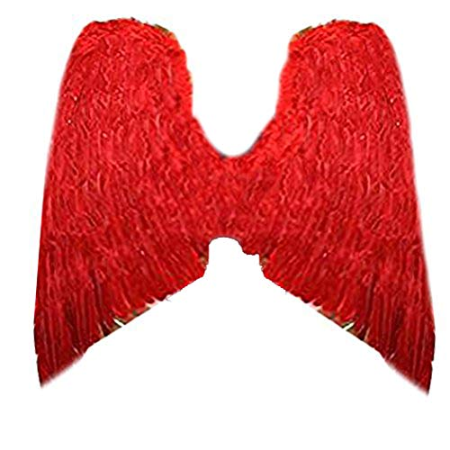 SACAS Super XXL Large Halloween Red Costume Feather Angel Wings Men Women]()