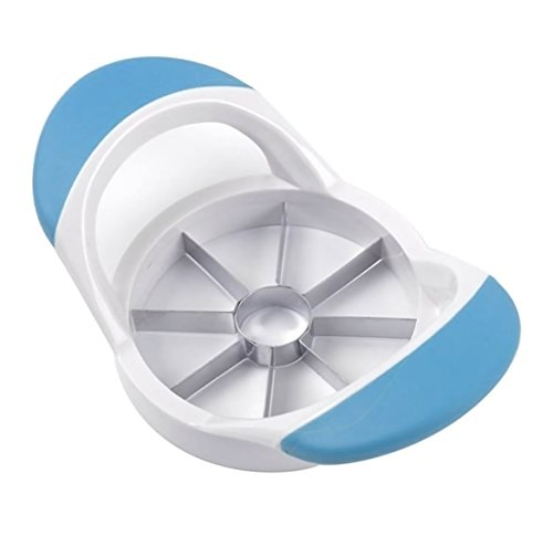 Stylewanderlust Apple Slicer Corer Divider Cutter With 8-Blade Easy Grip Stainless Steel with Anti-Slip Silicone Handle