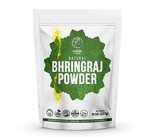 Noble Nature Natural Bhringraj Powder, 227 Gms (Eclipta Alba)| 100% Natural, Vegan and Non GMO | For Hair Care, Hair…