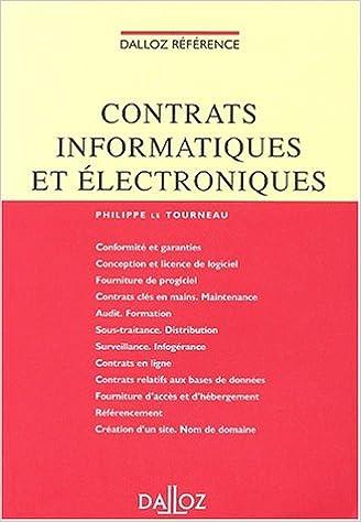 Lire Contrats informatiques et électroniques pdf