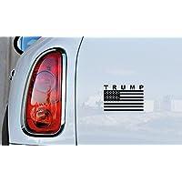 Pandora Stickers Arts and Hobbies Trump American Flag (Version 2) Car Vinyl Sticker Decal Bumper Sticker for Auto Cars Trucks Windshield Custom Walls Windows Ipad Macbook Laptop and More (BLACK)