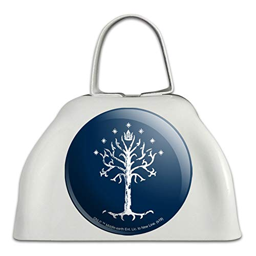 Lord of the Rings Tree of Gondor White Metal Cowbell Cow Bell Instrument