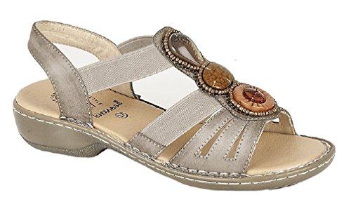 Wellness JASMINE Ladies Elasticated Halter Back Sandals Black Bronze xdCfgkybp