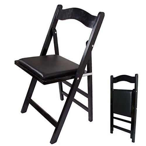 SoBuy® Klappstuhl, Stuhl, Holzstuhl, Küchenstuhl, Essstuhl, schwarz, FST06-SCH