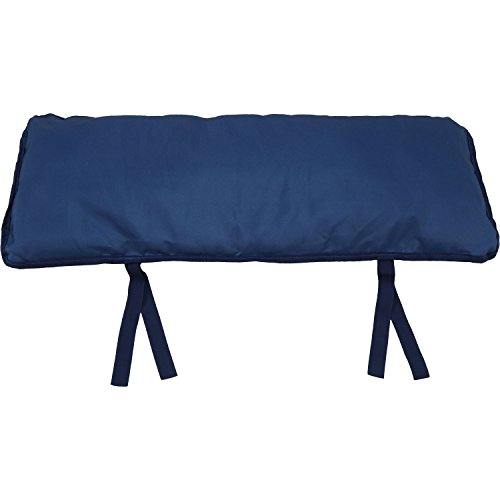 (Sunnydaze Large Hammock Pillow with Ties, Outdoor Camping Pillow, Weather Resistant, Navy Blue)