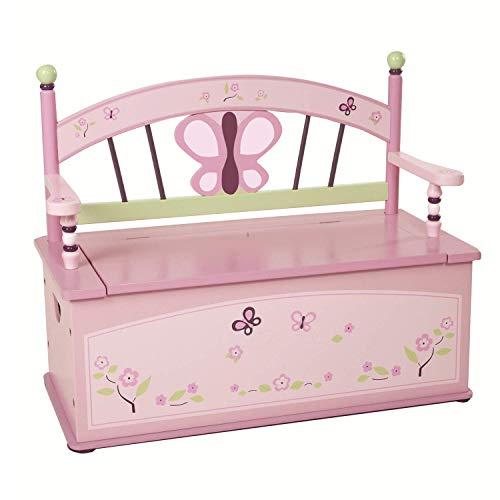 Wildkin Sugar Plum Toy Box Bench ()