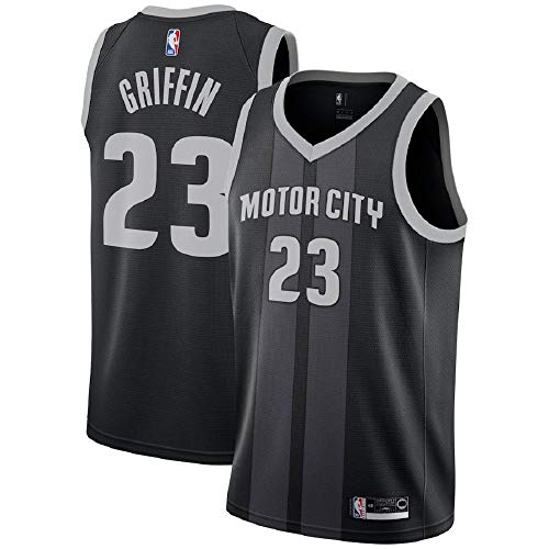 - Blake Griffin #23 Detroit Pistons 2018-19 Swingman Men's Jersey Black (XXL)
