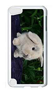 Ipod 5 Case,MOKSHOP Cool little bunny Hard Case Protective Shell Cell Phone Cover For Ipod 5 - PC White