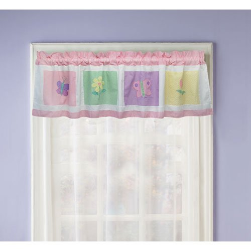 PEM America Spring Meadow Window Valance With Flowers Design VC1784 VC1784-4100