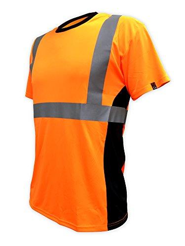 SafetyShirtz SS360 ANSI Class 2 Safety Tee Orange w/ Vented Sides M
