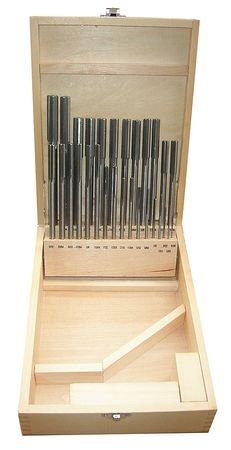 Chucking Reamer Sets, 1/16In- 1/2In, 29pc by Materro