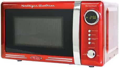 Nostalgia RMO770RED Retro Series 0.7 Cubic Foot 700-Watt Microwave Oven