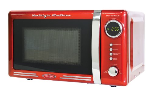 Nostalgia RMO770RED Retro 0.7 Cubic Foot Microwave Oven
