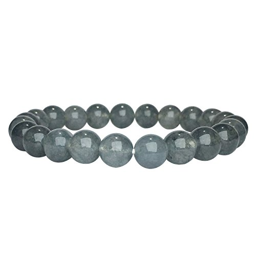 Iolite Moonstone Bracelet (Satyamani Natural Iolite Beads Bracelet)