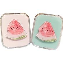 Summer Style Fresh Contact Lenses Case Nursing Holder, Watermelon, Random Color