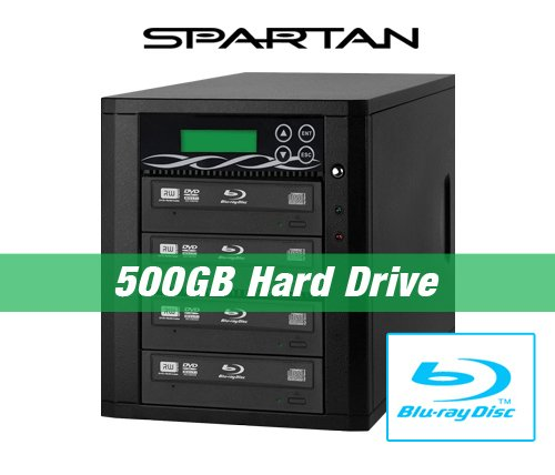 Spartan 500GB Hard Drive to 4 Target Multiple Blu Ray Disc Copy Duplicator with USB connection to PC (Standalone Video & Audio Disc Duplication System) B04-SSPPRO by Spartan