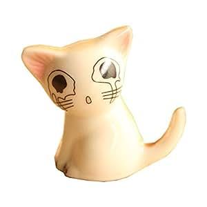 BeneKing - Decoración de dibujos animados japoneses, tamaño pequeño, diseño de casa de gatos, tamaño pequeño, 1,6 x 0,9 x 0,9 cm
