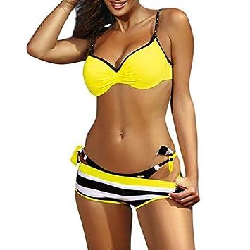 3c2f0094f8279 Amazon.com: Aries Esther Womens Padded Push-up Bra Bikini Set Swimsuit  Bathing Suit Swimwear Beachwear Three-Piece Suit: Beauty