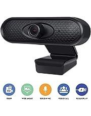 كاميرا شولوفز ويب مع ميكروفون مدمج للكمبيوتر المحمول ماك المحمول، كاميرا ويب عالية الوضوح 1080 بكسل وكاميرا قابلة للدوران 360 درجة لمكتب دردشة الفيديو S