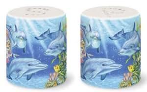 """Dolphin Salt & Pepper Shaker Set - Dolphin Cove - 2.5"""""""
