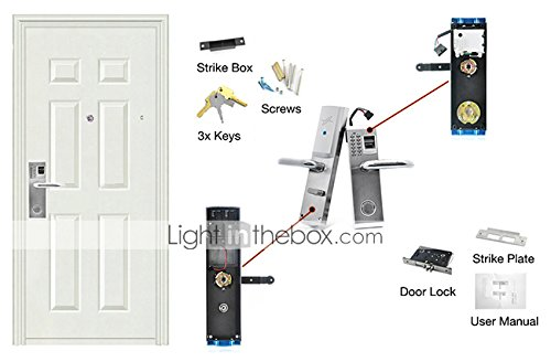 Lightinthebox 3-in-1 Biometric Fingerprint and Password Door Lock with Deadbolt (Right Handed) for Business and Home Security by LightInTheBox (Image #5)