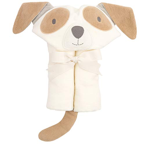 Elegant Baby Top Selling  Bath Gift - Cotton Hooded Towel Wrap, White Soft Puppy ()