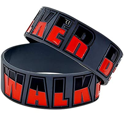 Sxuefang Silicone Bracelets With Sayings The Walking Dead Walker Bait Rubber Wristbands For Men And Kids Motivation Set Pieces Estimated Price £29.99 -