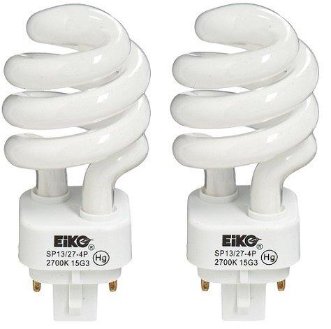 EiKO SP13274P.X2 Model SP13/27-4P Compact Fluorescent Light Bulb (2-Pack), 13 Watts, G24q-1 Base, T-4 Bulb, 3.74