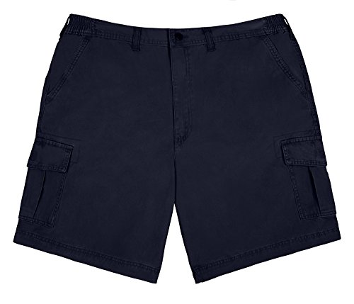Brentwood Sportswear Big Men's Cargo Shorts with Expandable Stretch Comfort Waist - Navy Blue (58