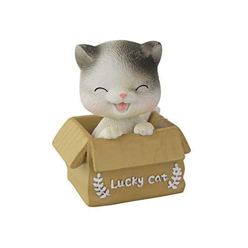 Eastalent Bobbleheads Bobble Head Cats car Dashboard Decors Dashboard Doll Nodding cat (Cat 1) (Bobble Head Car)