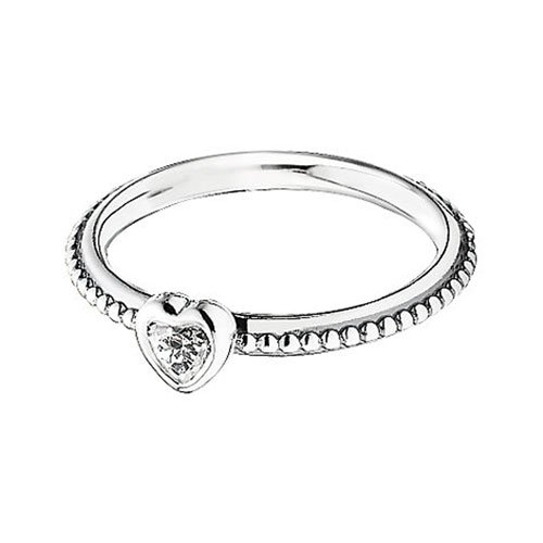 Pandora One Love Ring In Clear Cubic Zirconia 6 6 5 Us