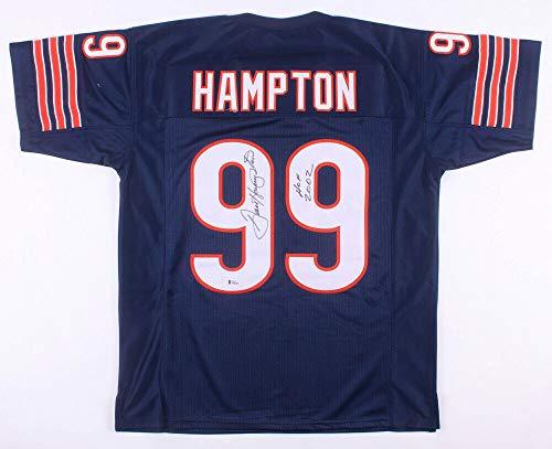 Dan Hampton Autographed Signed Memorabilia Chicago Bears Football Jersey Inscribed HOF 2002 Beckett Coa