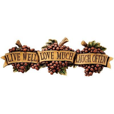 - Design Toscano Live-Love-Laugh Wall Sculpture