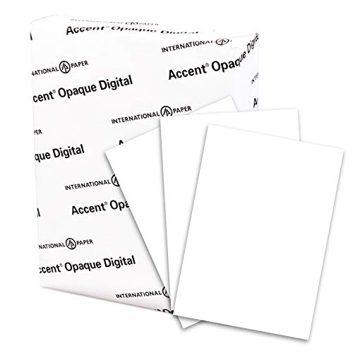 Accent Opaque Thick Cardstock Paper, White Paper, 80lb Cover, 216 gsm, 19x13 Paper, 97 Bright, 4 Ream Case / 800 Sheets, Smooth, Heavy Card Stock (188070C) by Accent (Image #1)