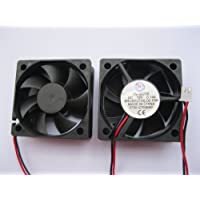 2 pcs Brushless DC Cooling Fan 12V 5020S 7 Blades 2 wire 50x50x20mm Sleeve-bearing Skywalking