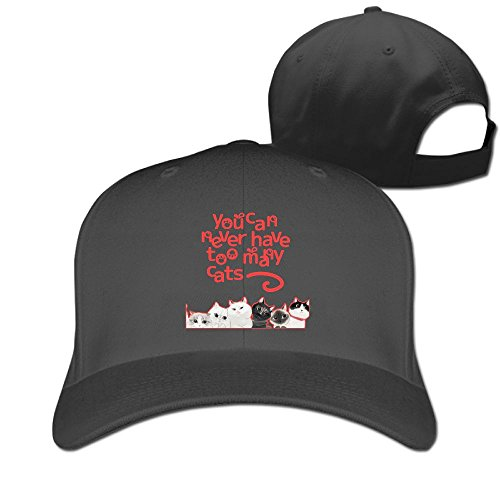 [Sandwich Peaked Cap 100% Cotton You Can Never Have Too Many Cats Peaked Baseball HatNew Design Cool Hat] (Cat In The Hat Costume Uk)