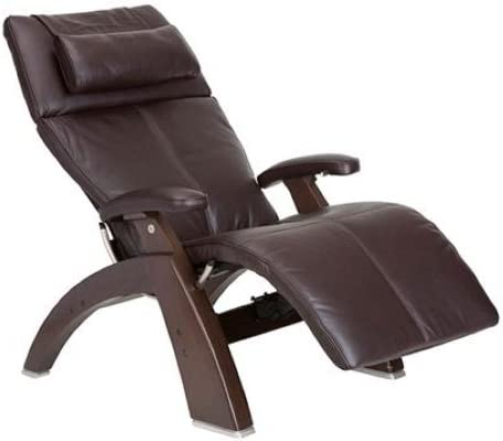 "Perfect Chair ""PC-500 Silhouette"" Top Grain Leather Zero Gravity Hand-Crafted Dark Walnut Recliner"