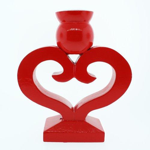Danish Heart Candleholder - (Scandinavian Hearts)