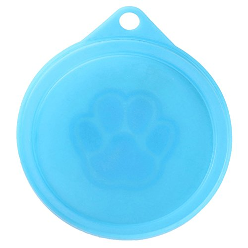 Best Price! ZEROYOYO 4pcs Plastic Reusable Pet Dog Cat Tin Food Cover LidStorage Cap Top 3.5'', Mixe...