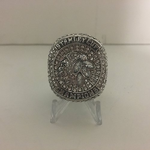 2015 Jonathan Toews #19 Chicago Blackhawks High Quality Replica 2015 Stanley Cup Ring Size 11-Silver ()