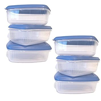 Addis Lebensmittel Prep 2 Lt Mikrowelle Blau Container Mit Deckel 6