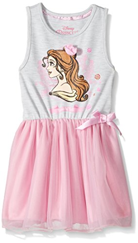 Disney Toddler Girls' Beauty and the Beast Belle Ruffle Dress, Pink, 5-6 Happy Threads