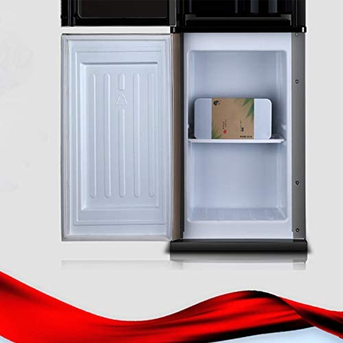 HMYLI Froid et Chaud Chaud Chauffe-Eau Cooler, Grande capacité électrique Distributeur d'eau Armoire de Rangement pour Bureau,Rouge,Warm Water