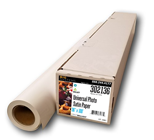 - BigJet Aqueous Premium Universal Satin Photo Paper, Banner Paper, Paper Roll (36
