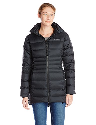 Columbia Women's Hellfire Mid Down Jacket, Black, Small