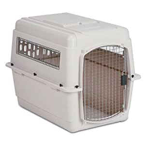 Petmate Ultra Vari Kennel, 28-Inch, For Pets 25-30 Pounds, Bleached Linen