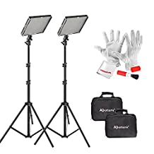 Emgreat® Aputure Amaran AL-528W LED Video Light Photographic Lighting Kit, Photo Studio Barndoor Light, Continuous Video Light, comes with Pergear® Clean kit