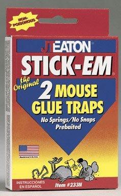 JT Eaton 233N Stick-Em Mouse Size Glue Traps (Em Rat Stick)